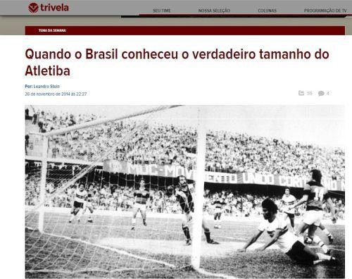 Especial sobre clássicos da Trivela teve capítulo sobre o Atletica (Reprodução/Trivela)